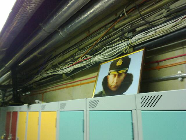 Taken at the lockers in the basement... Putin comes to LBS